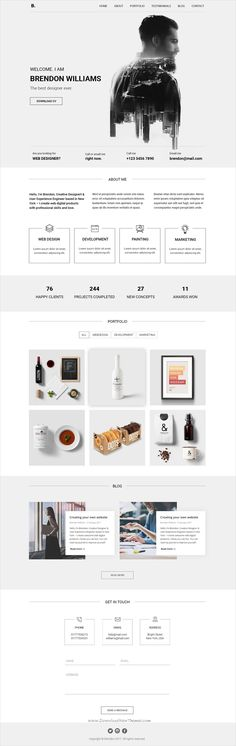 Brendon is clean and modern design #PSD template for multipurpose #business website download now➩ https://themeforest.net/item/brendon-minimal-personal-blog-portfolio-psd-template/19428235?ref=Datasata