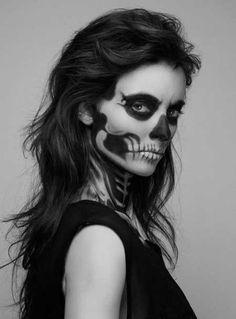 Halloween Makeup #skeleton