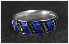 Custom Made Ring with blue enamel by Classic Hand Engraving and Jewelry