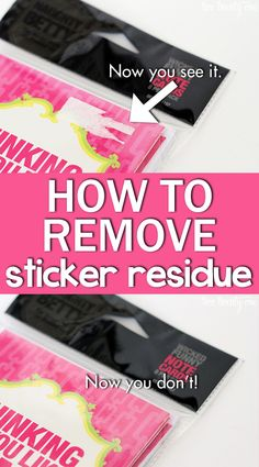 How to remove that pesky price tag sticker residue!