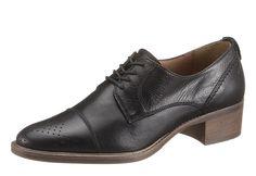 Schnürhalbschuh, Marc O'Polo. Leder, Futter: Leder, Decksohle aus Leder, Gummi-Laufsohle, 35 mm Absatz, Schuhweite: normal, Schnürung....