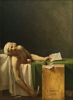 """Jacques-Louis David : """"The Death of Marat"""", 1793.  Brussels, Royal Museums of Fine Arts of Belgium, inv. 3260"""