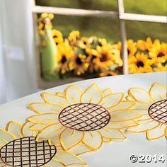 Sunflower Decor | Sunflower Doilies, Home Textiles, Home Decor   Terryu0027s  Village .