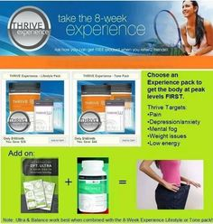 Visit my site and create a FREE profile and you will be entered to win a 3 day sample of THRIVE! www.amberkeith.le-vel.com
