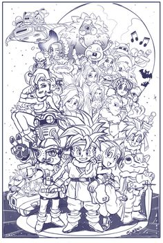 Chrono Trigger GDQ Roughs by RyanJampole on deviantART