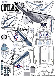 CUTLASS Paper Airplane Models, Paper Model Car, Paper Car, Model Airplanes, Paper Models, Paper Planes, Cardboard Toys, Paper Toys, Paper Crafts