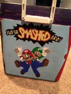 super smash brothers super smashed bro! Mario and Luigi drunk quote cooler side