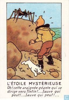 Carte postale - Tintin - L