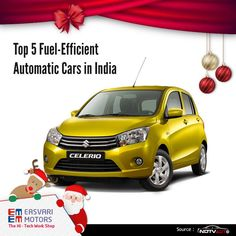 Top 5 Fuel-Efficient Automatic Cars in India  Maruti Suzuki Celerio  Fuel Economy: 23.1Km/l  If you are not happy with the space the Alto K10 has to offer, an additional Rs. 40,000 in your budget will get you the entry-level Celerio AMT. The Celerio was the first car in the lot to start the AMT madness, which has now passed on to many others in the country.  http://auto.ndtv.com/news/top-5-fuel-efficient-automatic-cars-in-india-714839?utm_source=taboola