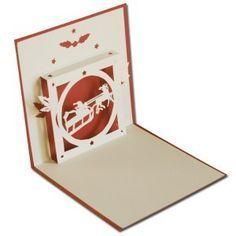 Et voici un nouveau modèle pour réaliser ce magnifique kirigami représentant un père noel en traineau s'envolant dans le ciel le soir de Noël!! Un moment magique à offrir avec grand plaisir!! Vous pouvez retrouver ce modèle ici Alors à vos cutters!!