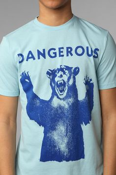 Don't poke the bear Dont Poke The Bear, Urban Outfitters, Graphic Tees, Berries, My Style, Cotton, How To Make, Mens Tops, Shopping