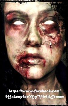 Zombie makeup, Halloween makeup,