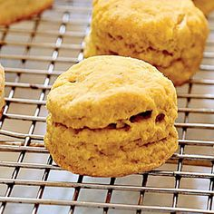 Spiced Pumpkin Biscuits | MyRecipes.com