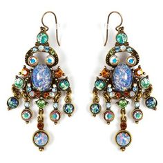 Check out this item at One Kings Lane! Spice Czech Glass Chandelier Earrings
