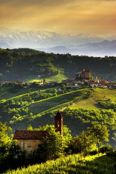 Serralunga d'Alba in Piedmont, Northern Italy