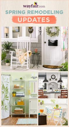 Welcome warm weather with deals on designs that up your curb appeal, boost your bathroom, clean up your kitchen, & more. Save up to 70% during the Wayfair.com spring home improvement sale, ending 3/23/15.