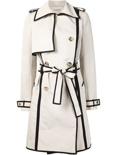Lanvin contrast piped trim trench coat