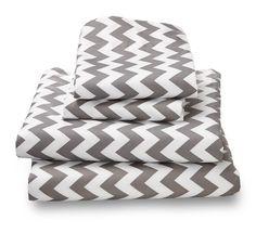 Gray Chevron Ultra Microfiber Bed Sheet Set