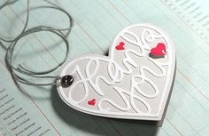 *Simon Says Stamp STAMPtember™ THANK YOU HEART Craft DIE Pair S120
