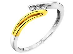 Pierścionek z żółtego i białego złota z brylantami - wzór 181.150 / Apart