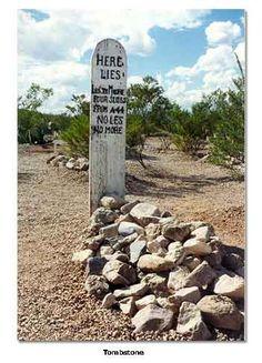 Here lies Lestr Moore, four slugs from a 44. No Les, No More ... AZ - via DesertUSA
