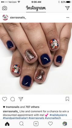 Try some of these designs and give your nails a quick makeover, gallery of unique nail art designs for any season. The best images and creative ideas for your nails. Get Nails, Fancy Nails, Love Nails, Pretty Nails, How To Do Nails, Shellac Nails, Nail Manicure, Nail Polish, Super Cute Nails