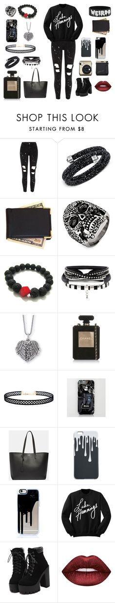 """""""Luke Hemmings"""" by thequeen-998 on Polyvore featuring River Island, Swarovski, Royce Leather, West Coast Jewelry, Chanel, LULUS, Yves Saint Laurent and Lime Crime"""