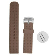 22mm Cool Sepia Color Silicone Jelly Rubber Unisex Watch Band Straps WB1053N22JB