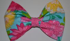 bows before bros | Lily Pulitzer inspired bow