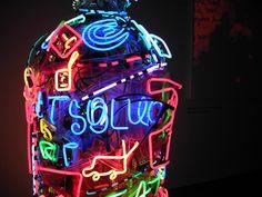 Neon installation, Absolut bottle