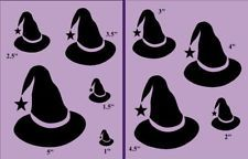 Primitive Stencil~Spooky Witch Hats-C~Halloween-Party