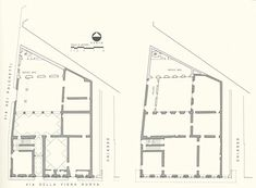palazzo rucellai plan, probably alberti. c. 1460.