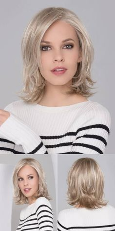 Do you like your wavy hair and do not change it for anything? But it's not always easy to put your curls in value … Need some hairstyle ideas to magnify your wavy hair? Brown Blonde Hair, Wavy Hair, New Hair, Beige Blonde, Medium Hair Cuts, Short Hair Cuts, Pixie Cuts, Medium Hair Styles For Women, Trendy Haircuts