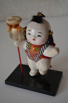 Kaga-ningyo, vintage Japanese mingei folk art doll