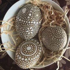 Painted Rocks, Mandala Inspired Design, Natural Home Decor, Garden Art, Rock…