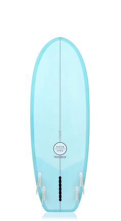 """Waterhed 'Shimmons' Surfboard Blue Resin Tint 5'6"""""""