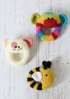 Mesmerizing Crochet an Amigurumi Rabbit Ideas. Lovely Crochet an Amigurumi Rabbit Ideas. Crochet Baby Toys, Cute Crochet, Crochet For Kids, Baby Knitting, Crochet Animals, Crochet Yarn, Amigurumi Patterns, Crochet Patterns, Crochet Books