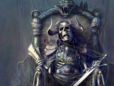 Dark Skeleton Deadly King Wallpaper