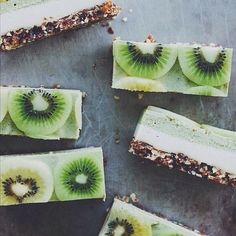 Raw Kiwifruit + Ginger 'cheesecake'. Get this and 200+ more Vegan Desserts recipes at https://feedfeed.info/vegan-desserts