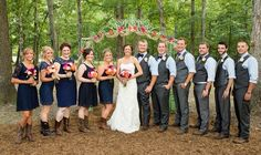 Wedding party in BOOTS! http://www.countryoutfitter.com/style/real-country-wedding-emily-reuschel/