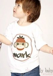 Sock Monkey Personalized Printed Tee