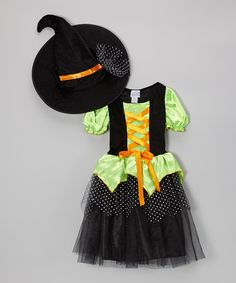 Take a look at this Green Charmed Witch Dress & Hat - Girls by Story Book Wishes on #zulily today!  http://www.zulily.com/invite/Zulily20Store