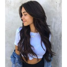 Pure Color Tape in Hair Brazilian Hair Body Wave Seamless Off Black - Long Hairstyles Easy Hairstyles For Long Hair, Cool Hairstyles, Long Hair Haircuts, Hairstyles 2016, Long Hairstyles With Layers, Best Long Haircuts, Black Hairstyles, Hairdos, Long Brunette Hairstyles