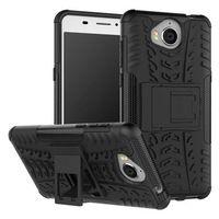 "Huawei Y5 2017 Case Huawei Y6 2017 Cover 5.0"" Hybrid TPU Silicone + Hard Phone Case For Huawei Y6 2017 Case Back Cover Skin Bag"