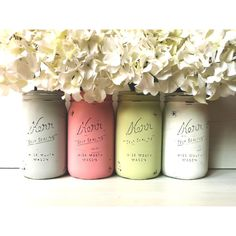MOXIE - SPRING and Summer WEDDING and Home Decoration - Painted and... ($28) ❤ liked on Polyvore