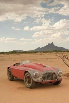 Ferrari 166MM unrestored (barn find) This has to be the hottest pic of an unrestored car. I would love to drive and keep this car as-is.