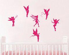 Wall Decal Vinyl Sticker Decals Art Home Decor Mural Tinkerbell Decal Fairy Nursery Children Girls Baby Room Bedroom L438
