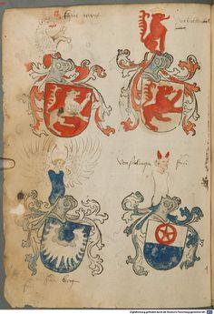 Tirol, Anton: Wappenbuch Süddeutschland, Ende 15. Jh. - 1540 Cod.icon. 310 Folio 54v