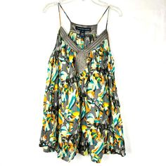 dfbe10148ff8d6 French Connection Women s Floral Top size 10 Spaghetti Strap Sleeveless 18P   FrenchConnection  TankTop  Casual