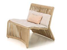 Upholstered fabric garden armchair CLIFF   Garden armchair by Talenti